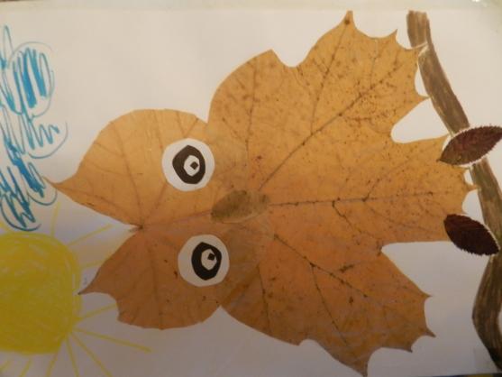 Ковер своими руками из листьев