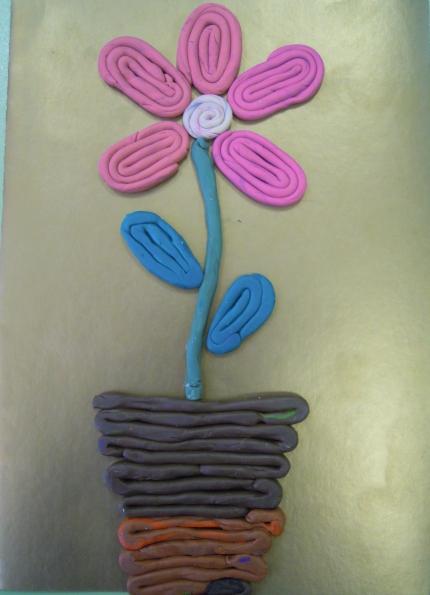 конспект пластилин цветок