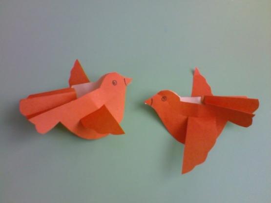 Птицы своими руками для детей оригами
