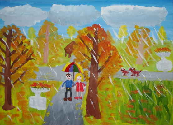 """Красавица Осень """" рисунки детей - Для ...: pradom.pp.ua/risunki-detej-7-let-osen.html"""