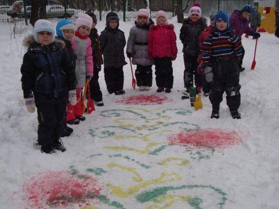 Солдаты снег