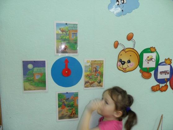 знакомство детей с частями суток