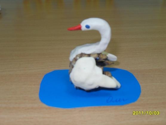 Презентация поделки лебедь - Модульное оригами лебедь из треугольных модулей