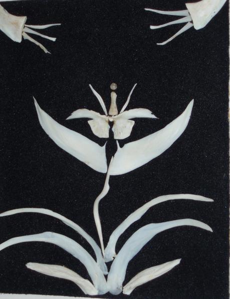 Поделки из природного материала. Панно «Нежность» из рыбьих костей