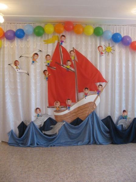 Оформление зала на выпускной в детском саду фото своими руками