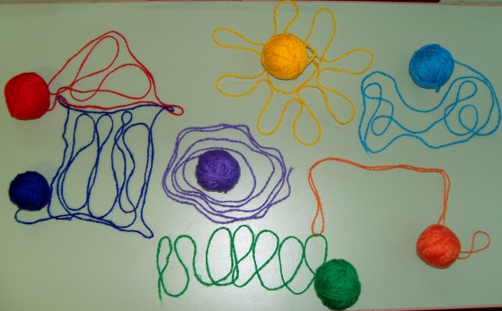 Игры с цветами радуги.