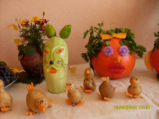 Оригинальные поделки из овощей к празднику осени