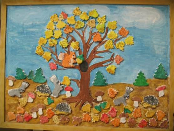 Поделки из листьев в детский сад своими руками фото фото 335