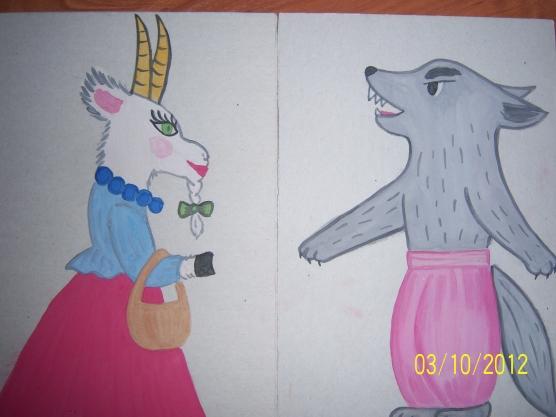Конспект логопедического занятия по развитию связной речи. Пересказ сказки «Как козочка и волк разговаривали».
