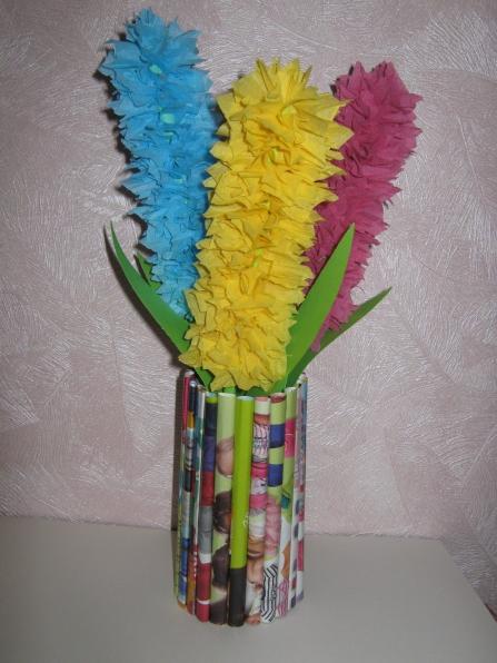 Поделки своими руками в садик ваза 31