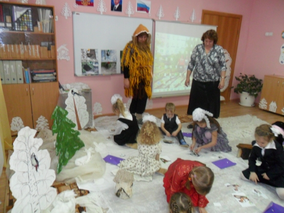 Картинки животные зимой для дошкольников