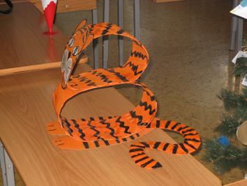 Поделка тигренок