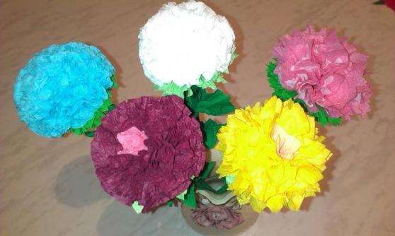 Техника изготовление цветов из гофрированной бумаги своими руками 99