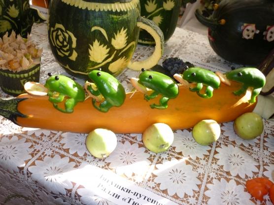Какую и как сделать поделку из овощей.