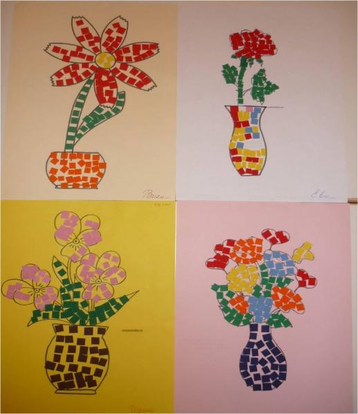 знакомство детей с мозаикой