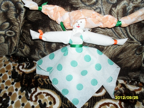 Русская красавица. Кукла из салфеток своими руками