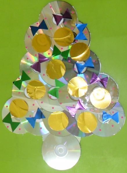 Елка из дисков своими руками поделка из 63