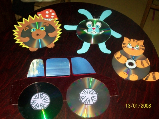 Фото поделки из дисков для детского сада