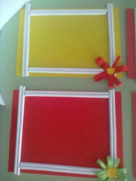 Рамка из цветной бумаги своими руками