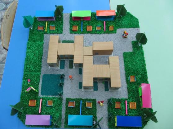 Как сделать макет здания детского сада