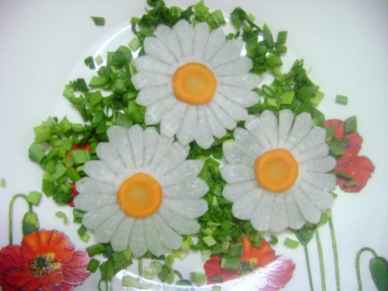 Простые украшения для салатов фото