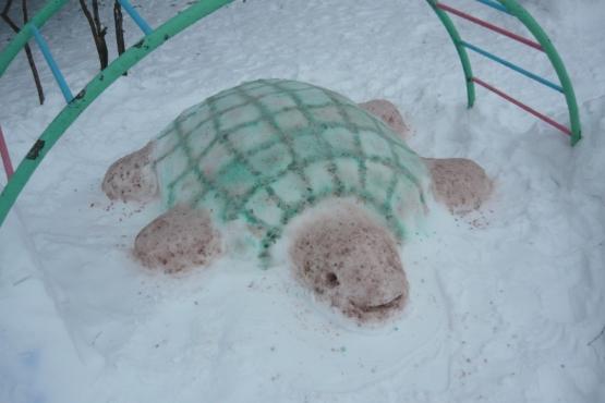 Зимние постройки на участке детского сада своими руками фото