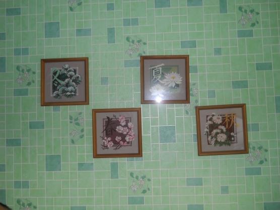 Картина на стене вышивка
