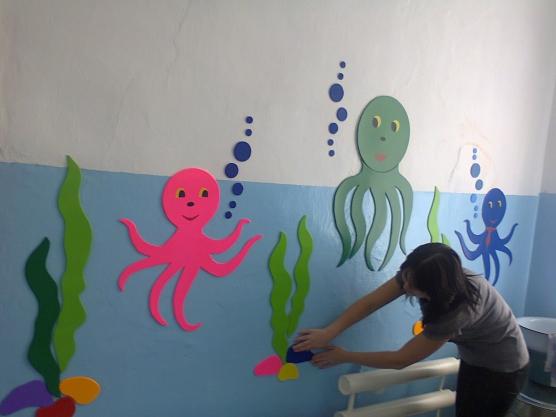 Оформить стену в детском саду своими руками 74