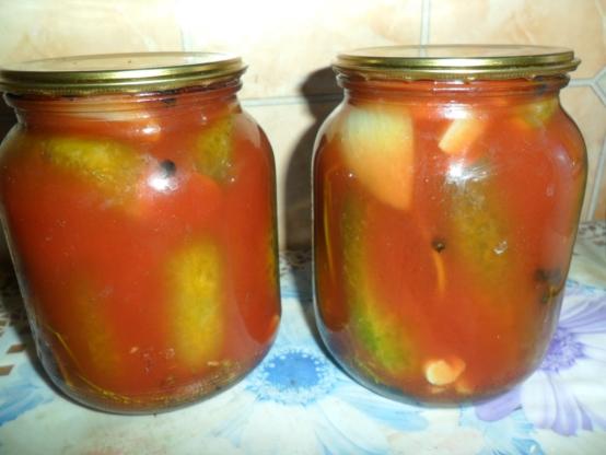 Как сделать перцы в томатном соке на зиму 99