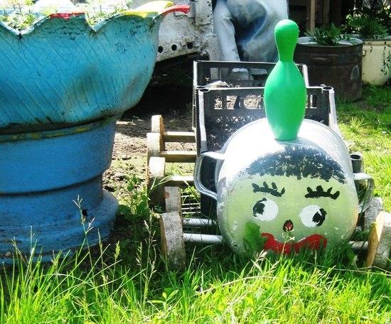 Идеи для детской площадки: детский паровозик 65