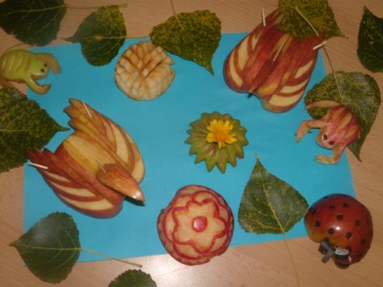 Яблочный спас. Поделки из яблок и природного материала