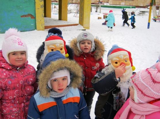 Подвижная игра для младших дошкольников «Два мороза: Синий нос и Красный нос»
