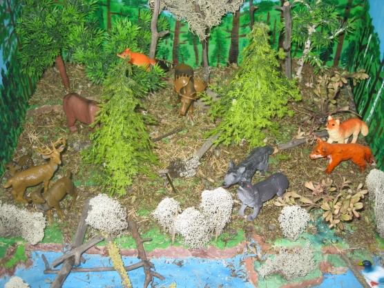 Макет лесных животных своими руками