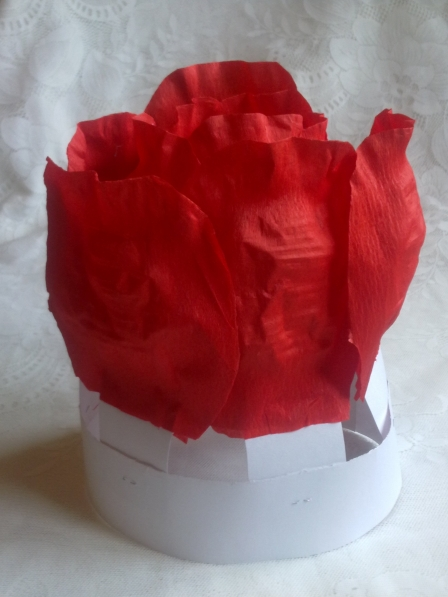 Костюм розы из бумаги своими руками