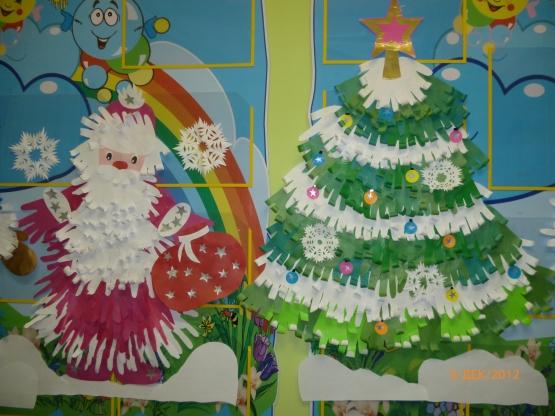 Поделки из бумаги в детском саду новогодние