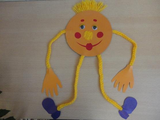 Поделка солнышко своими руками из ниток 68