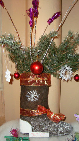 Поделка вместо елки новогодний букет своими руками