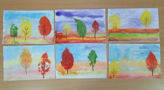 Картинки золотая осень детские рисунки