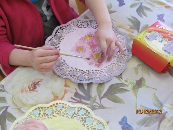 Салфетка своими руками детям