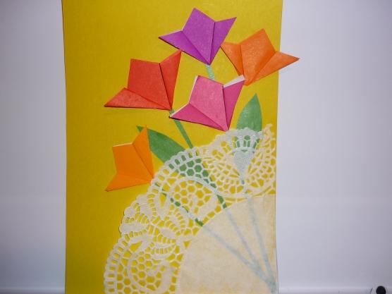 Открытка из цветного картона
