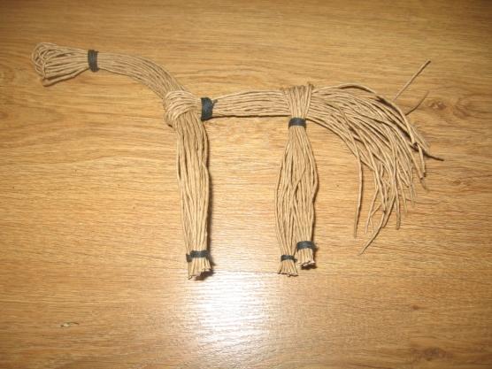 Как из ниток сделать гриву 628