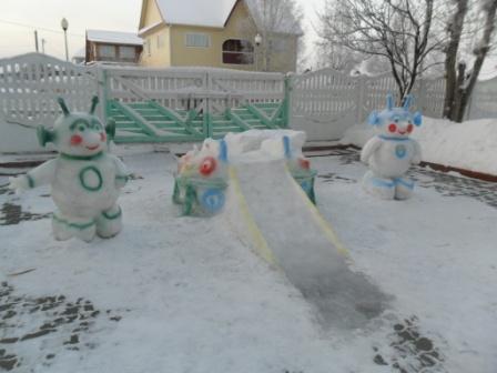 Оформление зимнего участка в детском саду своими руками фото