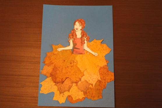 Девочка осень поделка