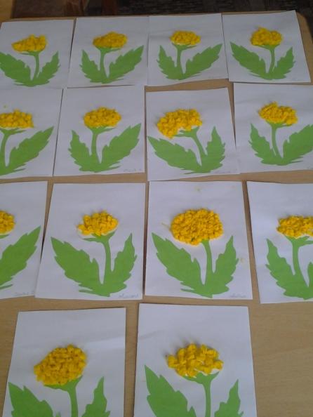 Конспект занятия по аппликации цветы