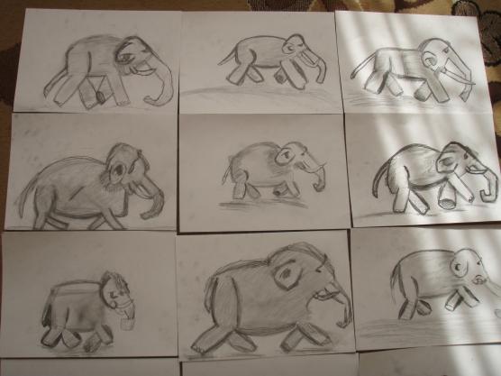 Слоненок схема рисунка