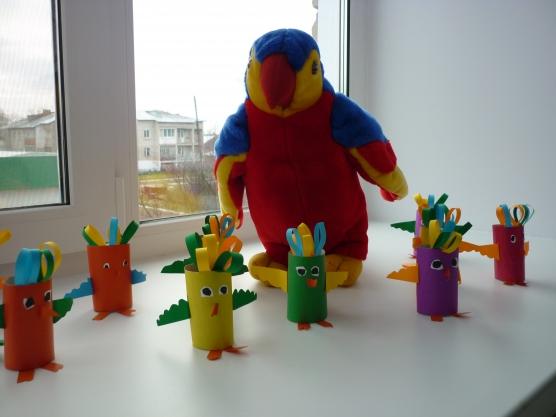 Поделка в детский сад домашние птицы