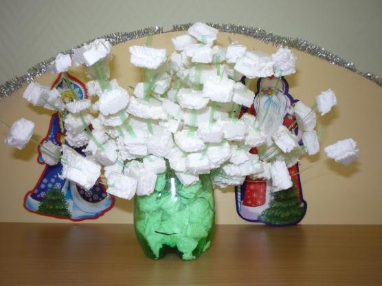 Зимний букет в садик своими руками