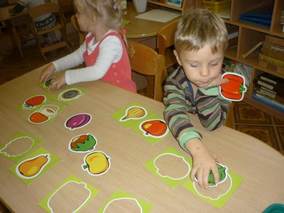 знакомство с овощами и фруктами в младшей группе