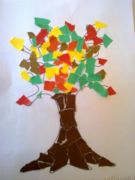 Дерево из бумаги для 1 класса