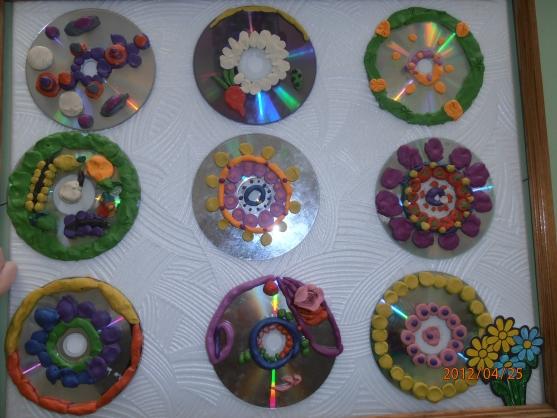 В диске с пластилином своими руками